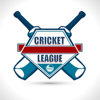 Крикет фон с калитками и красными деталями
