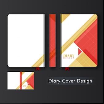 Дизайн дневник с геометрическими формами