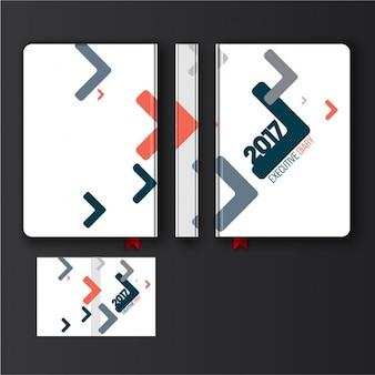 Дизайн дневник с абстрактными геометрическими формами