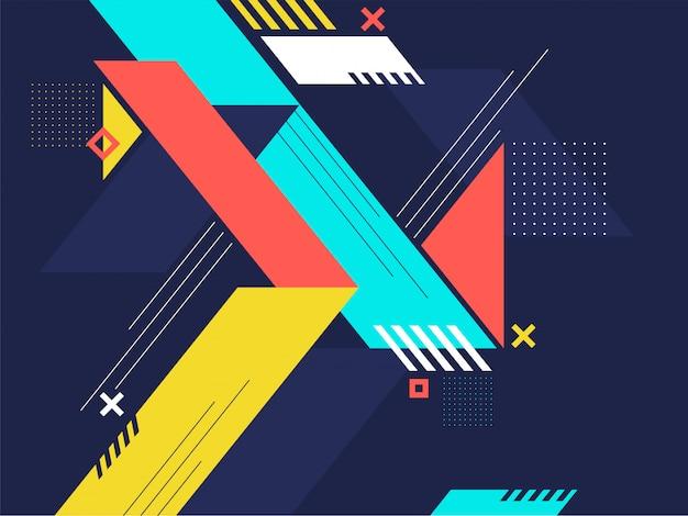 カラフルな幾何学の抽象的な背景