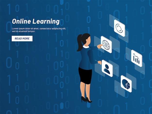 オンライン学習の概念。