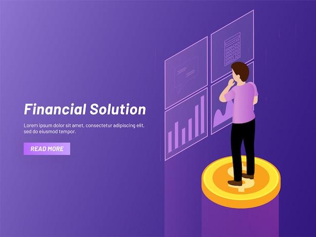 金融ソリューションのコンセプト。