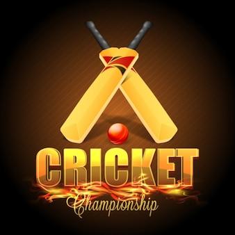Полосатый крикет фон с калитками и мяч