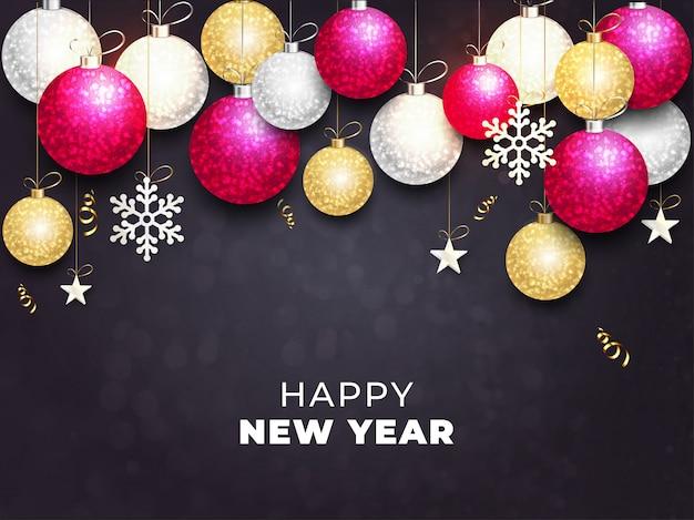 新年の背景。