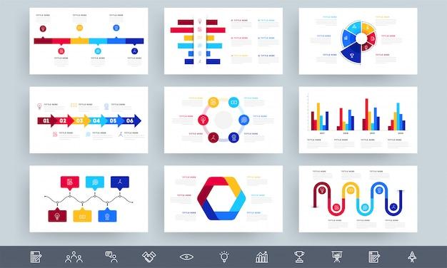 Красочные инфографики элементы