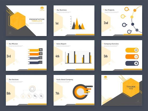 インフォグラフィック要素を持つデータ統計グラフ