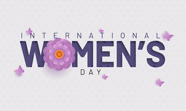 Концепция празднования международного женского дня.