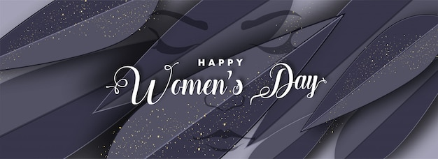 幸せな女性の日の背景。