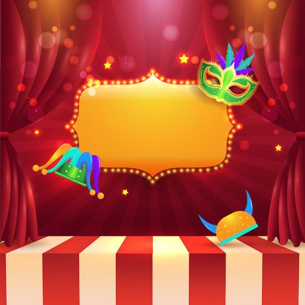 カーニバルパーティーの背景。