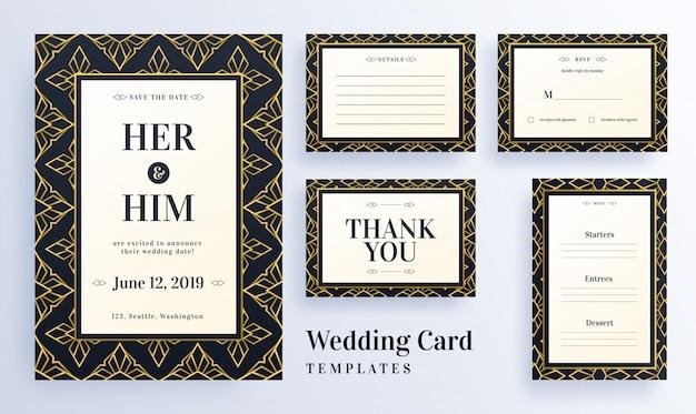 シームレスパターンの結婚式のテンプレート