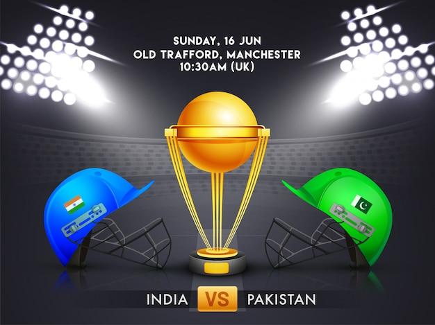 インド対パキスタン、クリケットの試合のコンセプト。