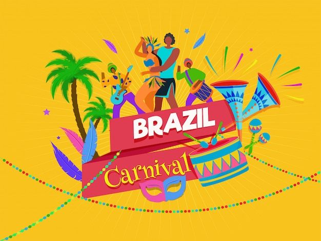 Бразильский карнавал фон.