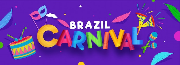 Бразильский карнавал баннер.