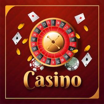 カジノの背景。