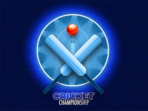 Крикет чемпионат концепции.