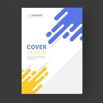 企業部門向けのカバーページまたはテンプレートデザインのレイアウト。