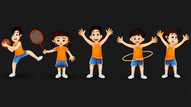 かわいい小さな子供たちのキャラクター。
