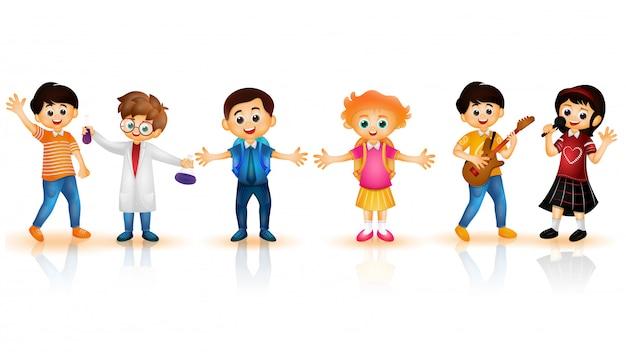 学校の子供たちのキャラクター。