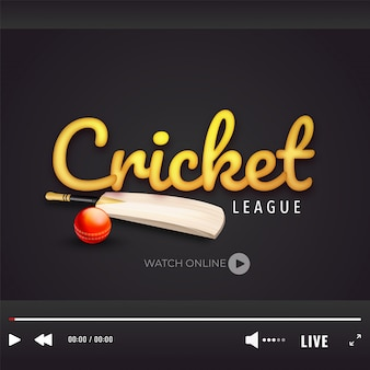 Крикет чемпионат концепция.