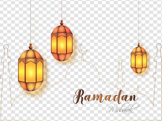 Рамадан мубарак концепция.
