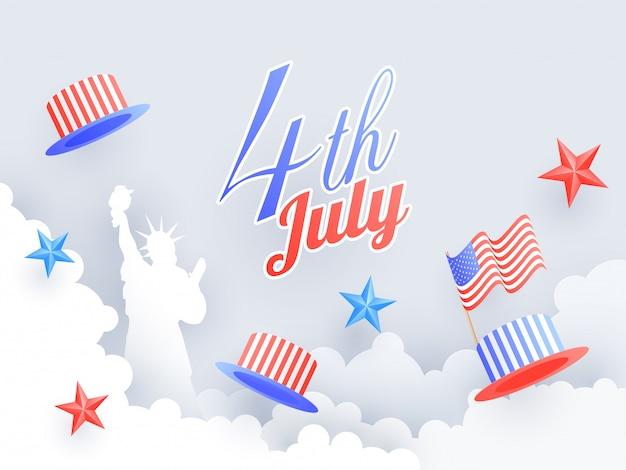 アメリカ独立記念日の概念。