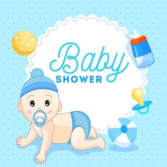 おしゃぶり、赤ちゃんのボトムなどの要素を持つかわいい小さなサーダー男の子