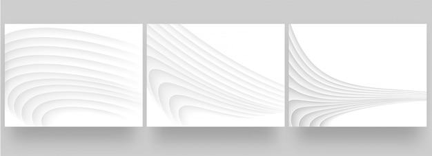 ホワイトペーパーの抽象的な背景デザインセット