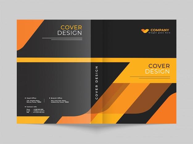 Макет страницы шаблона рекламной обложки для бизнеса или корпоративного сектора.