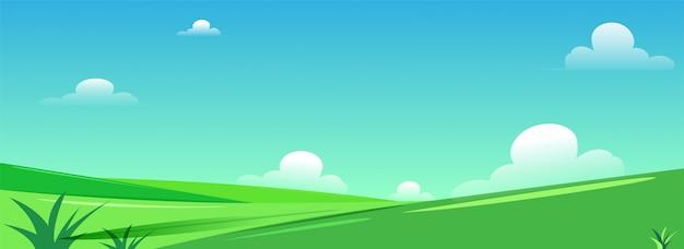 美しい緑の自然の風景。