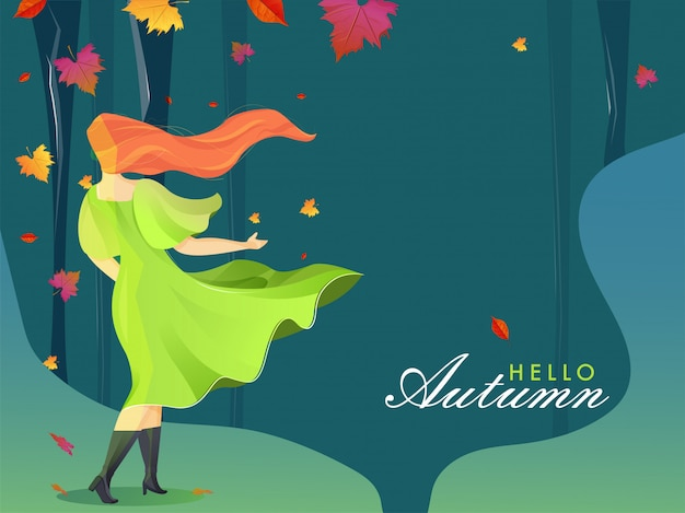 こんにちは秋の背景