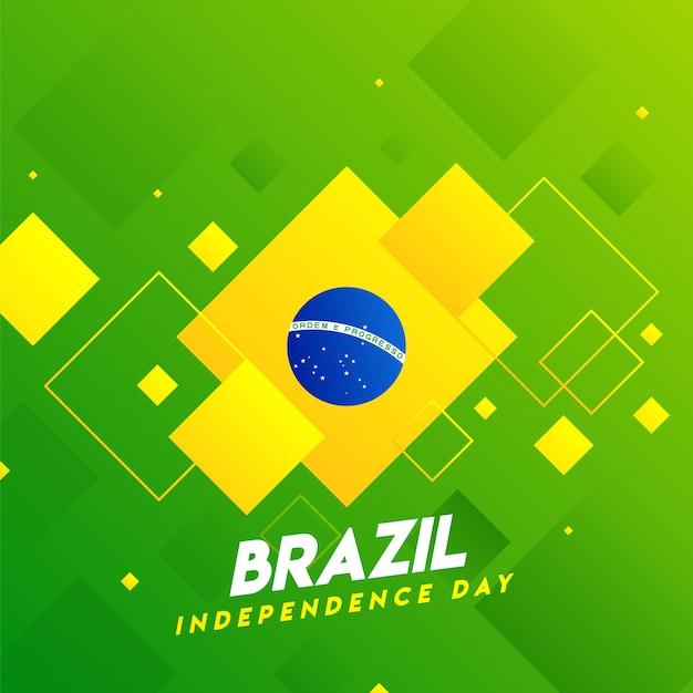 Плакат празднования дня независимости бразилии