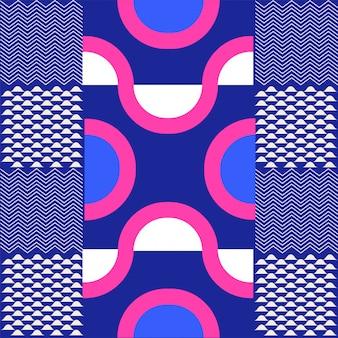 さまざまなスタイルの印刷パターンは、紫色の背景を抽象化します。