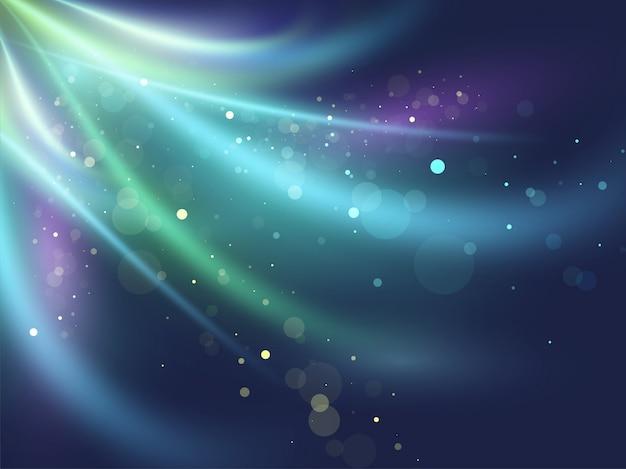 美しい光沢のある光ビーム新興光線抽象的な背景。