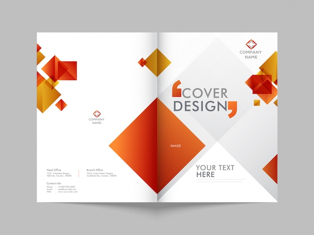 Передняя и задняя обложка деловой брошюры.