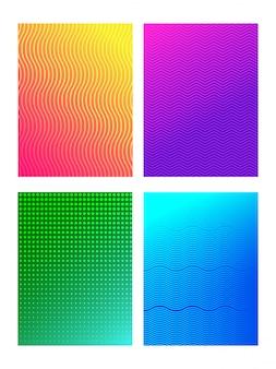 Набор различных стиля бесшовные абстрактный узор. шаблон или флаер, брошюра.
