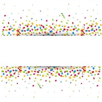 Красочные конфетти, украшенные пространством для текста.