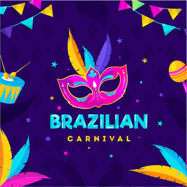 ブラジルのカーニバルパーティーの背景。