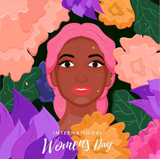 国際女性の日の背景。