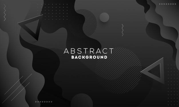 Абстрактный черный фон с геометрическими фигурами