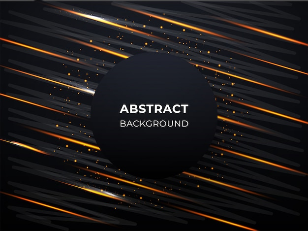 光線と金色の粒子と抽象的な背景。