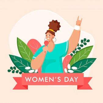Концепция международного женского дня.