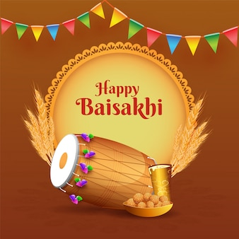 Иллюстрация пенджабского фестиваля байсахи