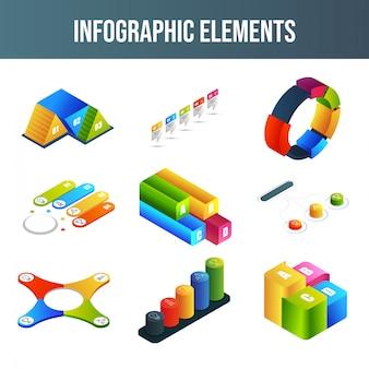 インフォグラフィック要素セット。