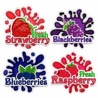 Пакет из четырех фантастических фруктов наклейки
