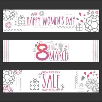 Ассортимент цветочных баннеров для женского дня