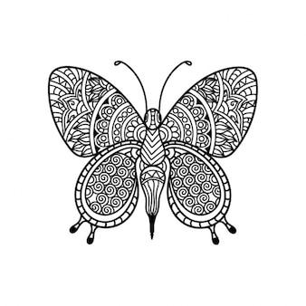 民族蝶のデザイン