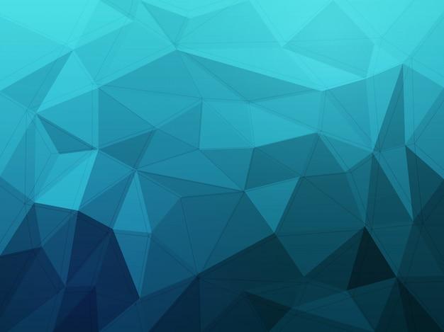 青い抽象的な背景、多角形の形、低ポリコンセプト。