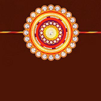 Креативный красивый дизайн рахи для индийского фестиваля, ракша бандхан.
