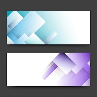 Заголовки веб-сайтов или баннеры с абстрактным дизайном.
