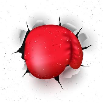 ボクシンググローブ、ボクシングデーのコンセプト。